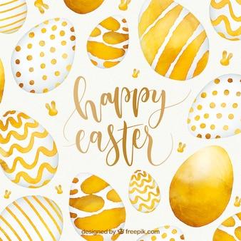 Fond aquarelle joyeux Pâques