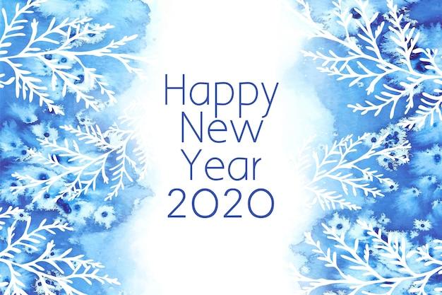 Fond aquarelle nouvel an 2020