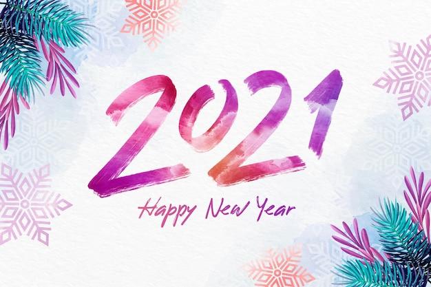 Fond aquarelle nouvel an 2021