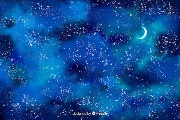 Fond aquarelle de nuit étoilée