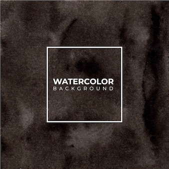 Fond aquarelle peint à la main abstraite noire. texture décorative. image dessinée à la main sur papier