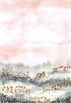 Fond aquarelle de peinture à la main landascapes