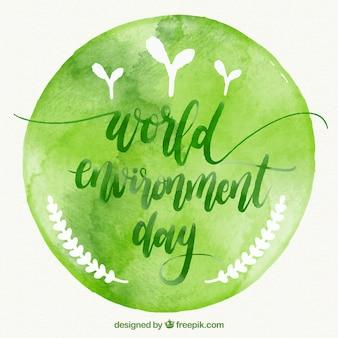 Fond d'aquarelle ronde pour le jour de l'environnement mondial