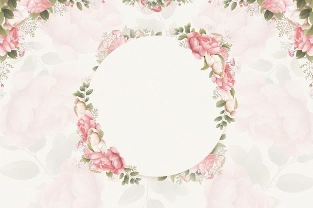 Fond aquarelle avec des roses
