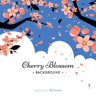Fond d'arbre belle fleur de cerisier
