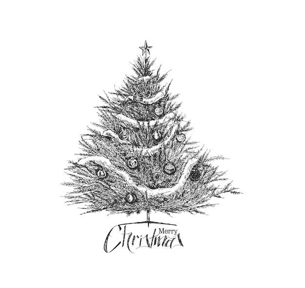 Fond d'arbre de noël, illustration vectorielle.