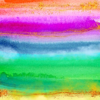 Fond arc-en-ciel coloré aquarelle