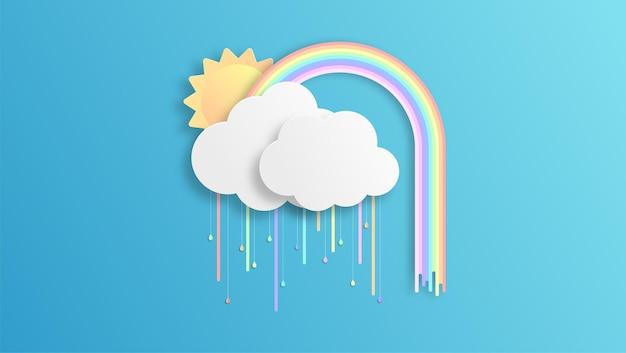 Fond arc-en-ciel coloré