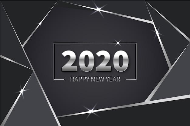 Fond argenté du nouvel an
