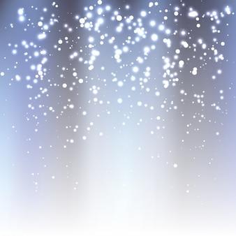 Fond argenté avec des lumières blanches