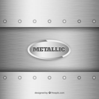 Fond argenté métallique