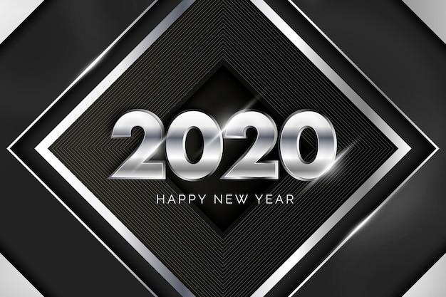 Fond argenté nouvel an 2020