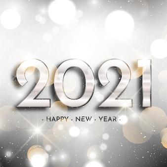 Fond argenté nouvel an 2021