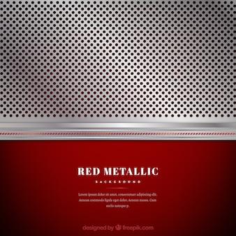 Fond argenté et rouge métallique