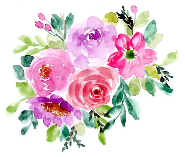 Fond d'arrangement aquarelle floral