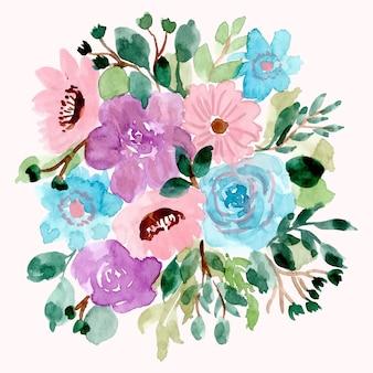 Fond d'arrangement aquarelle jolie fleur