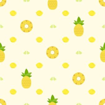 Fond d'arrière-plan d'ananas
