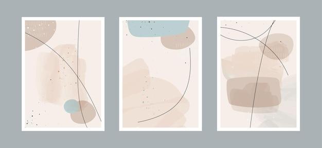 Fond d'art abstrait avec différentes formes pour la couverture de carte postale ou de brochure de décoration murale