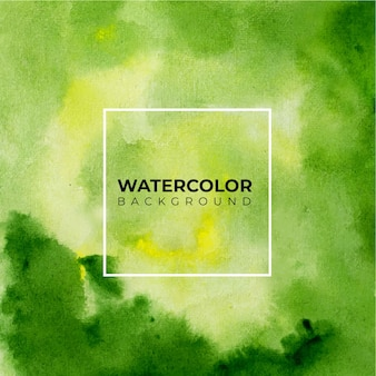 Fond d'art avec fond aquarelle de couleur verte.