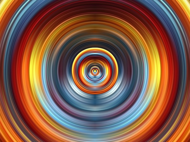 Fond d'art futuriste cercle aquarelle