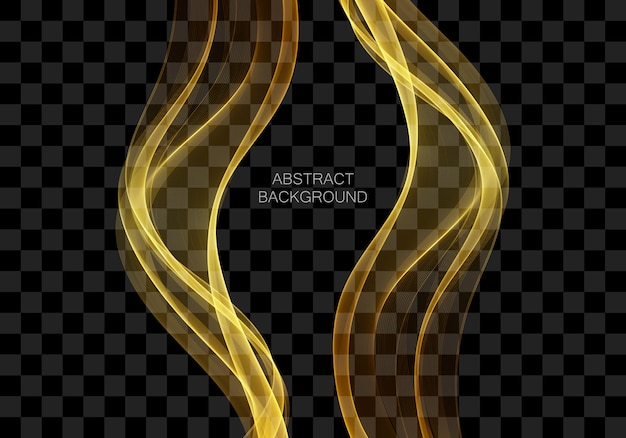 Fond d'art numérique abstrait avec ligne d'or vector