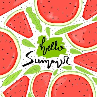 Fond avec des articles d'été. style de bande dessinée. illustration vectorielle.