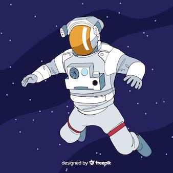 Fond d'astronaute dans l'espace