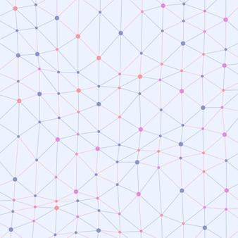 Fond asymétrique de points connectés