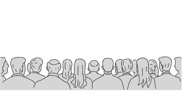 Fond d'audience avec espace vide