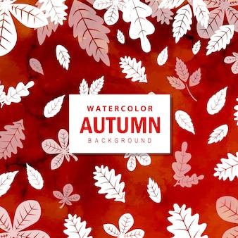 Fond d'automne aquarelle coloré