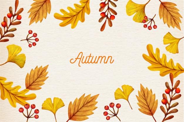 Fond automne aquarelle