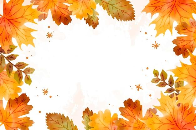 Fond d'automne aquarelle