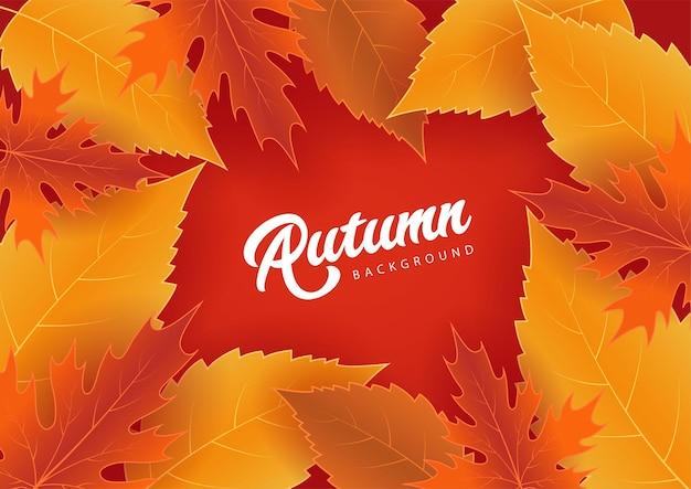 Fond d'automne en couleur rouge
