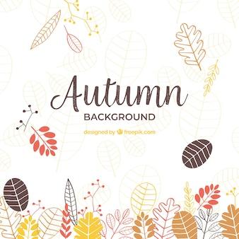 Fond d'automne créative dessinés à la main