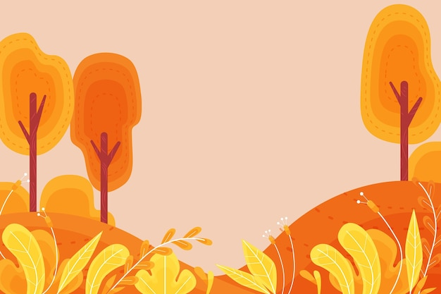 Fond d'automne décoratif