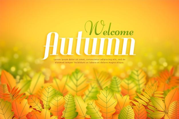 Fond d'automne design plat avec des feuilles colorées