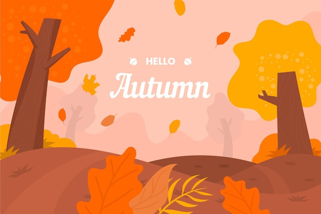 Fond d'automne design plat