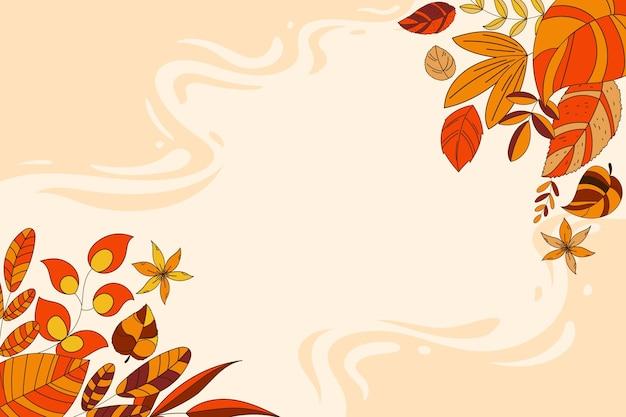 Fond d'automne de dessin animé
