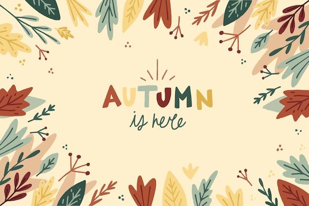 Fond d'automne dessiné à la main
