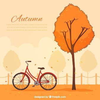 Fond automne dessinés à la main
