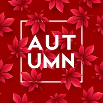 Fond d'automne avec des feuilles d'automne. illustration vectorielle eps10