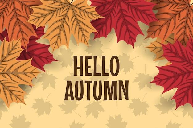Fond d'automne avec des feuilles d'automne