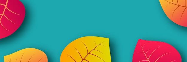 Fond d'automne avec des feuilles jaunes d'érable et place pour le texte. conception de bannière pour la bannière ou l'affiche de la saison d'automne. illustration vectorielle