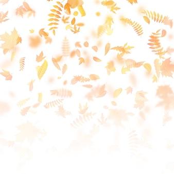 Fond d'automne avec des feuilles. retour au modèle de l'école.