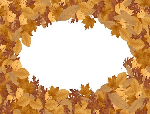 Fond d'automne avec des feuilles séchées