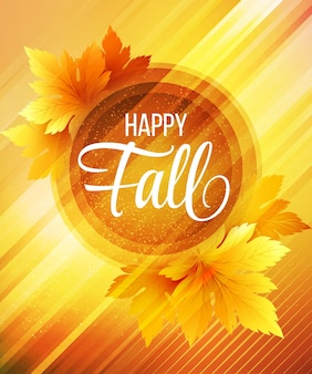 Fond d'automne heureux