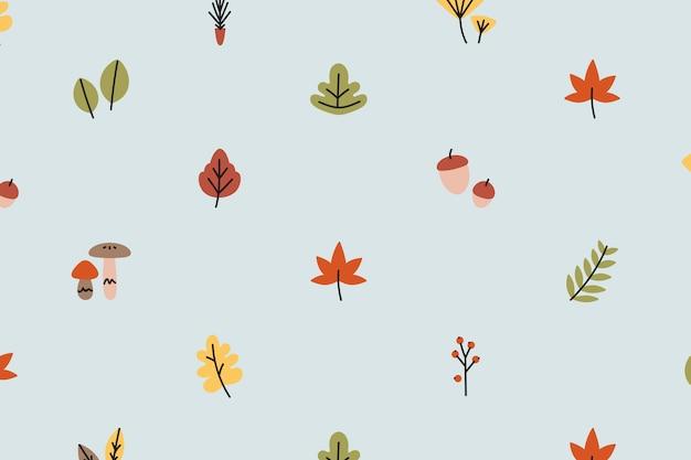 Fond d'automne à motifs