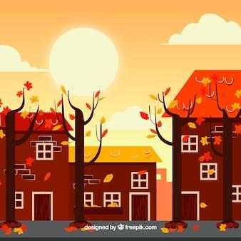 Fond d'automne avec paysage