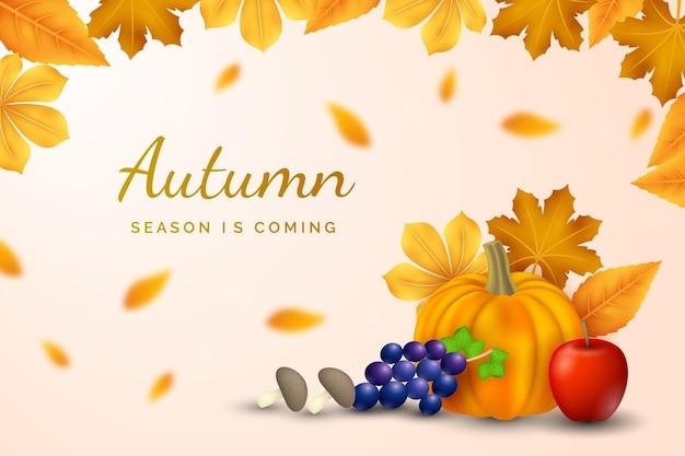 Fond d'automne réaliste