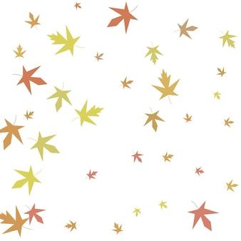 Fond d'automne simple de confettis d'érable d'automne